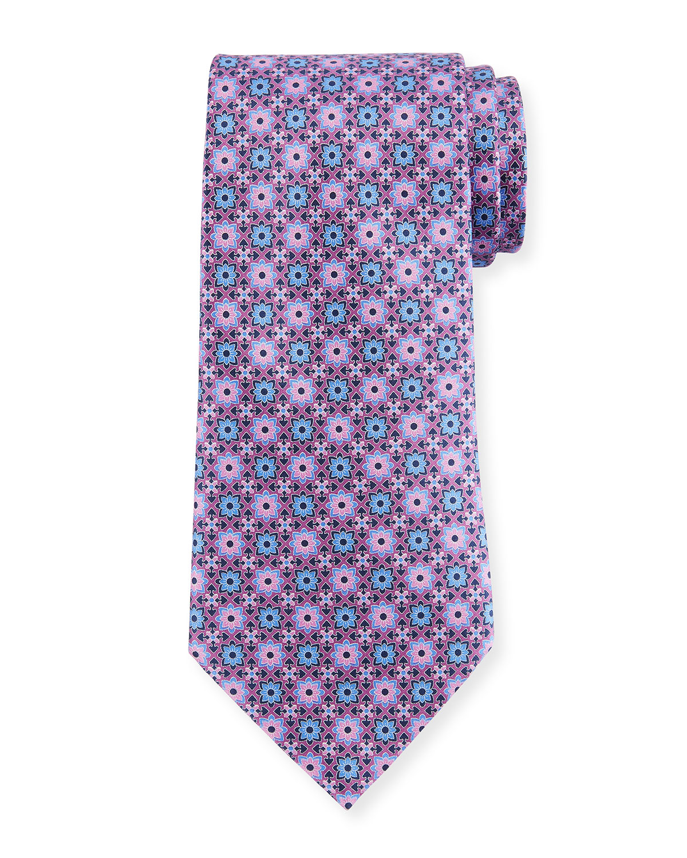 886381c9 Geometric Flower Silk Tie
