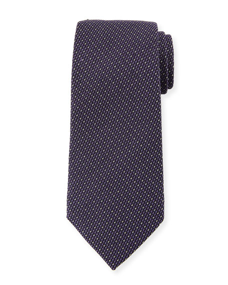 Ermenegildo Zegna Micro-Tic Silk Tie, Purple