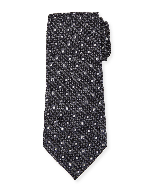 bdbd3adb Box-On-Jacquard Silk Tie, Gray