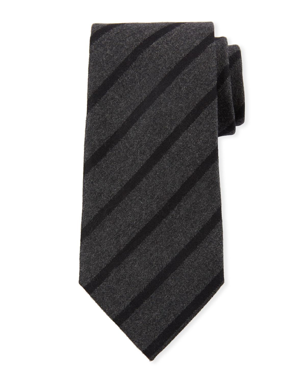 80aa2258a1 Classic Stripe Silk Tie, Gray
