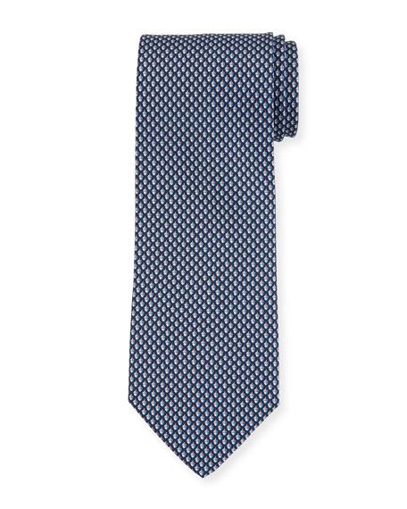 Salvatore Ferragamo Acorn Silk Tie, Blue