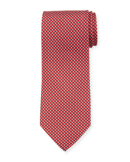 Salvatore Ferragamo Acorn Silk Tie, Red