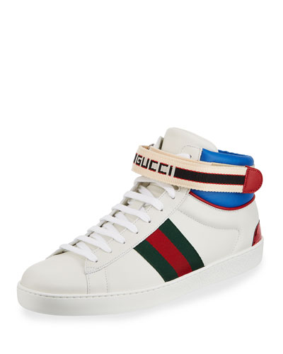 Men's New Ace Ankle-Strap High-Top Sneakers