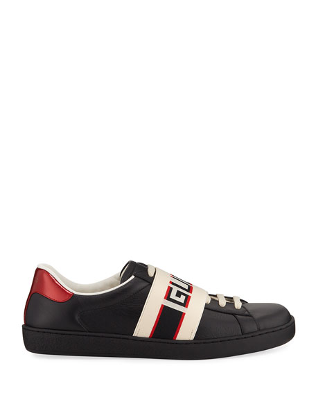 Men's New Ace Banded Leather  Low-Top Sneaker