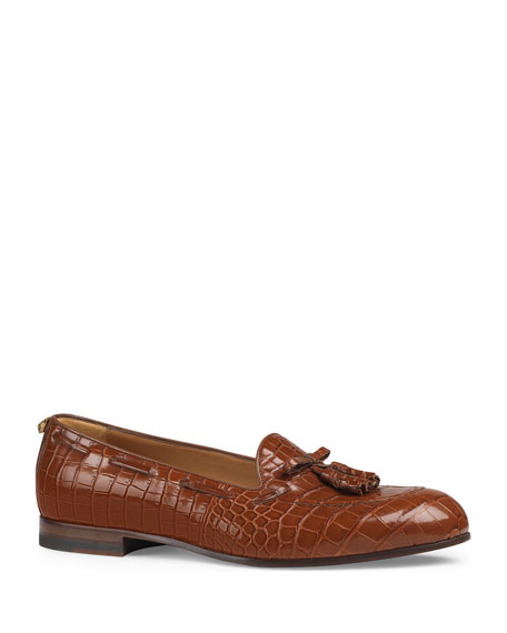 Crocodile Tassel Loafer
