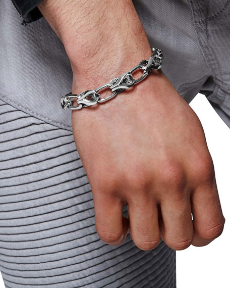 John Hardy Men's 11mm Classic Chain Silver Link Bracelet w/ Pusher Clasp