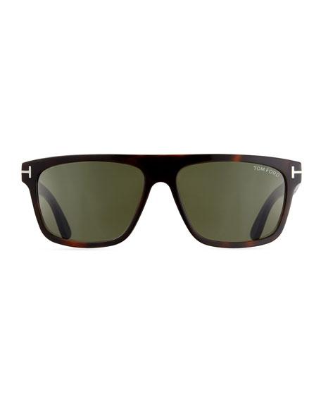 TOM FORD Men's Thick Square Acetate Sunglasses