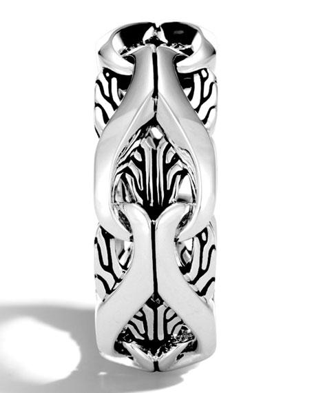 John Hardy Men's 10mm Classic Chain Silver Ring