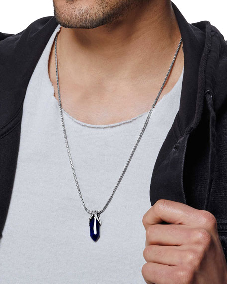 Image 3 of 4: John Hardy Men's Classic Chain Pendant Necklace w/ Sodalite, 26""