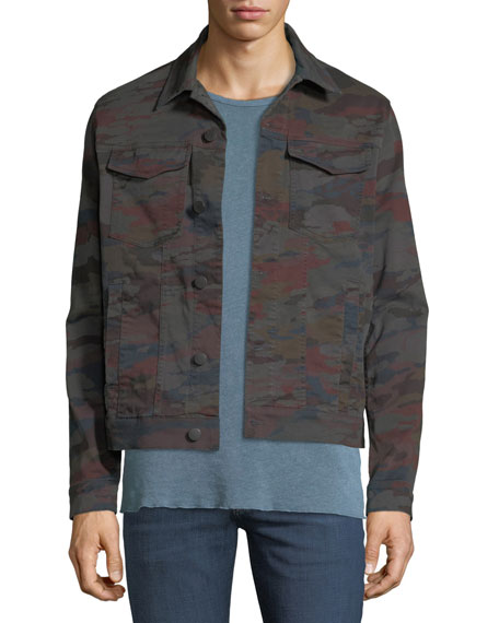 J Brand Men's Acamar Multicolor Camo Trucker Jacket