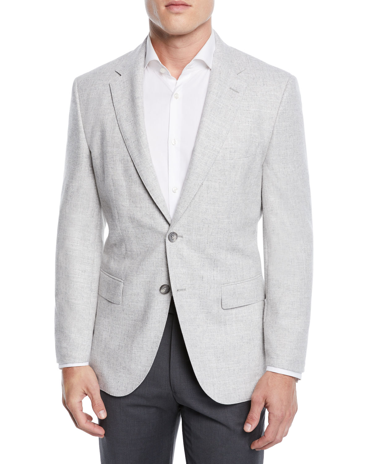 d4c56edbb7 BOSS Men's Jestor Wool-Cotton Jacket with Elbow Patches | Neiman Marcus