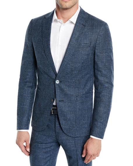 Men's Micro-Weave Wool/Cotton Two-Piece Suit