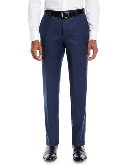 BOSS Men's Heathered Wool Travel Pants