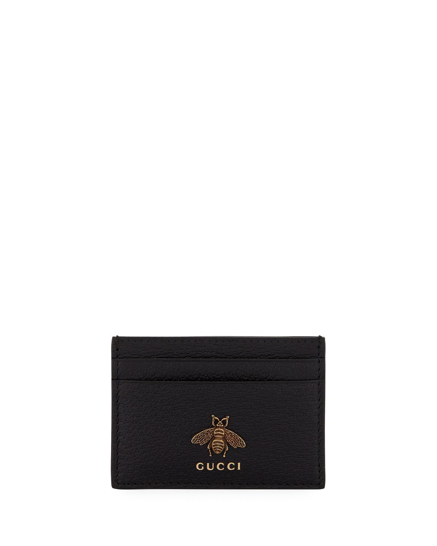 ecba38e3342ab1 Gucci Men's Bee Leather Card Case | Neiman Marcus