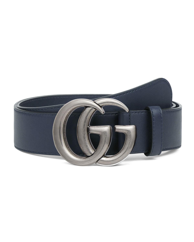 50cb17480e1 Gucci Men s Running GG Leather Belt