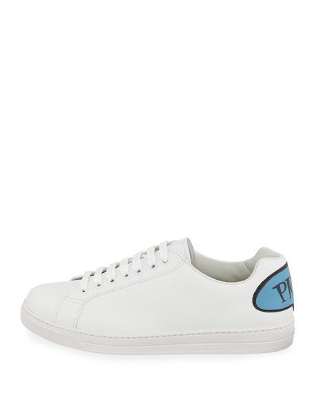 Men's Avenue Bubble-Patch Leather Low-Top Sneakers