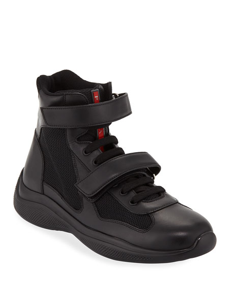 Prada Men's America's Cup Plume Bike High-Top Strap