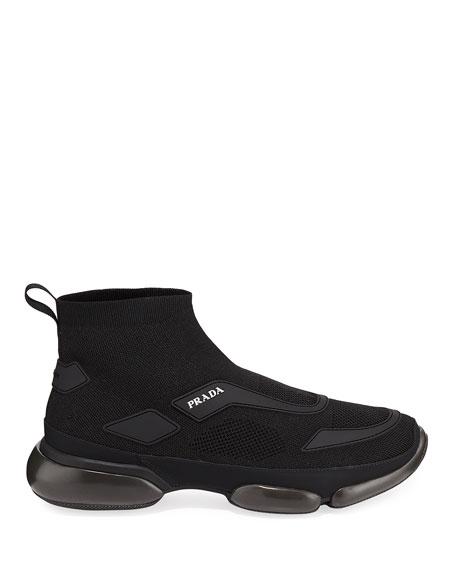 Men's Cloudbust Knit Sport High-Top Sneakers