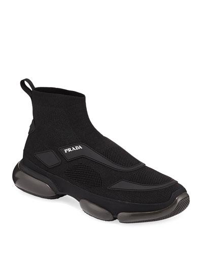 Men's Cloudburst Knit Sport High-Top Sneakers