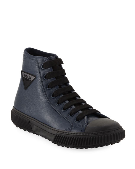 Prada Men's Daino 2 High-Top Status Sneaker