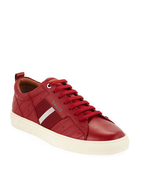 Men's Helvio Embossed Low-Top Sneakers
