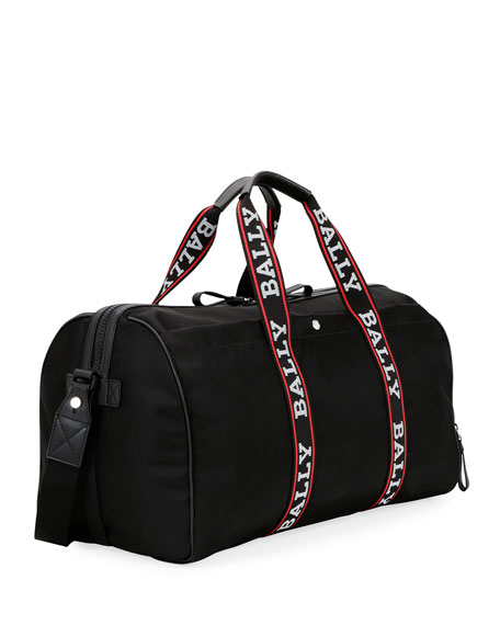 Bally Men's Darcy S0 Logo-Tape Nylon Duffel Bag