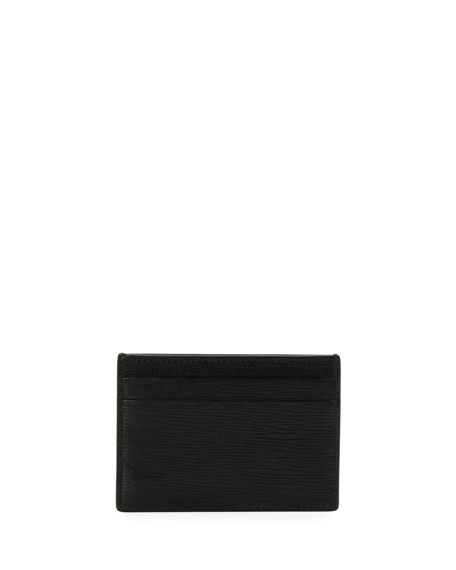 Bally Men's Bhar Leather Card Case, Black