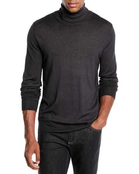 Men's Wool-Silk Turtleneck Sweater