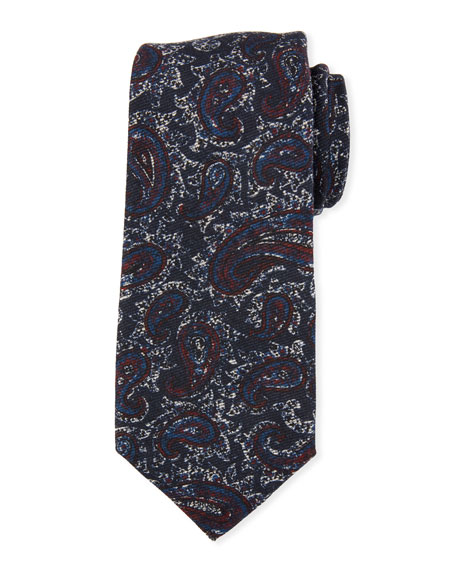 Kiton Antique Paisley Wool/Silk Tie