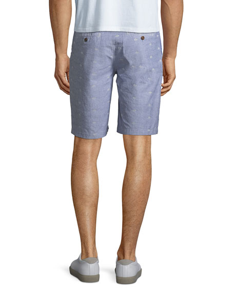 Image 2 of 3: Men's Thompson Dot-Pattern Cotton Shorts