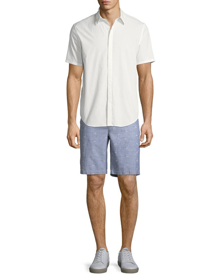 Image 3 of 3: Men's Thompson Dot-Pattern Cotton Shorts