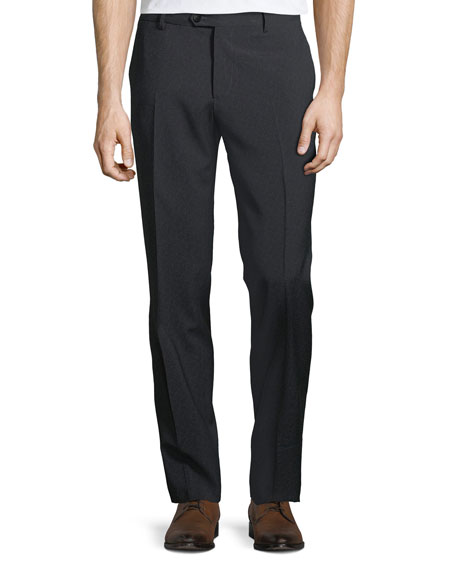 Men's Wool Flat-Front Pants