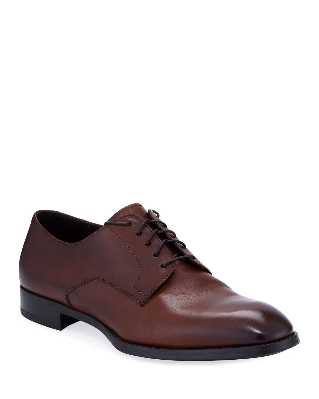 5d2a508f9e20 Giorgio Armani Men s Leather Derby Shoes