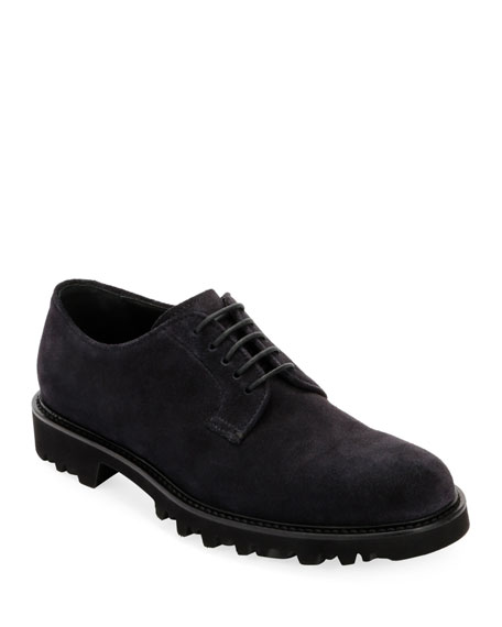 Men's Lugged-Sole Suede Derby Shoe