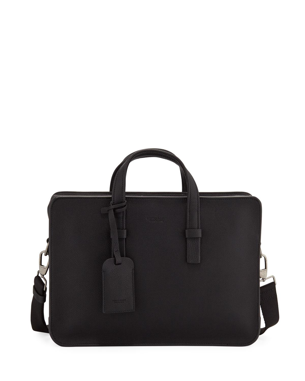 Giorgio Armani Men s Tumbled Calf Leather Briefcase 2fb2fd58867d9