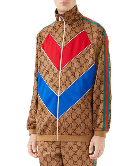 Image 1 of 3: Men's Large Vintage Logo-Print Track Jacket