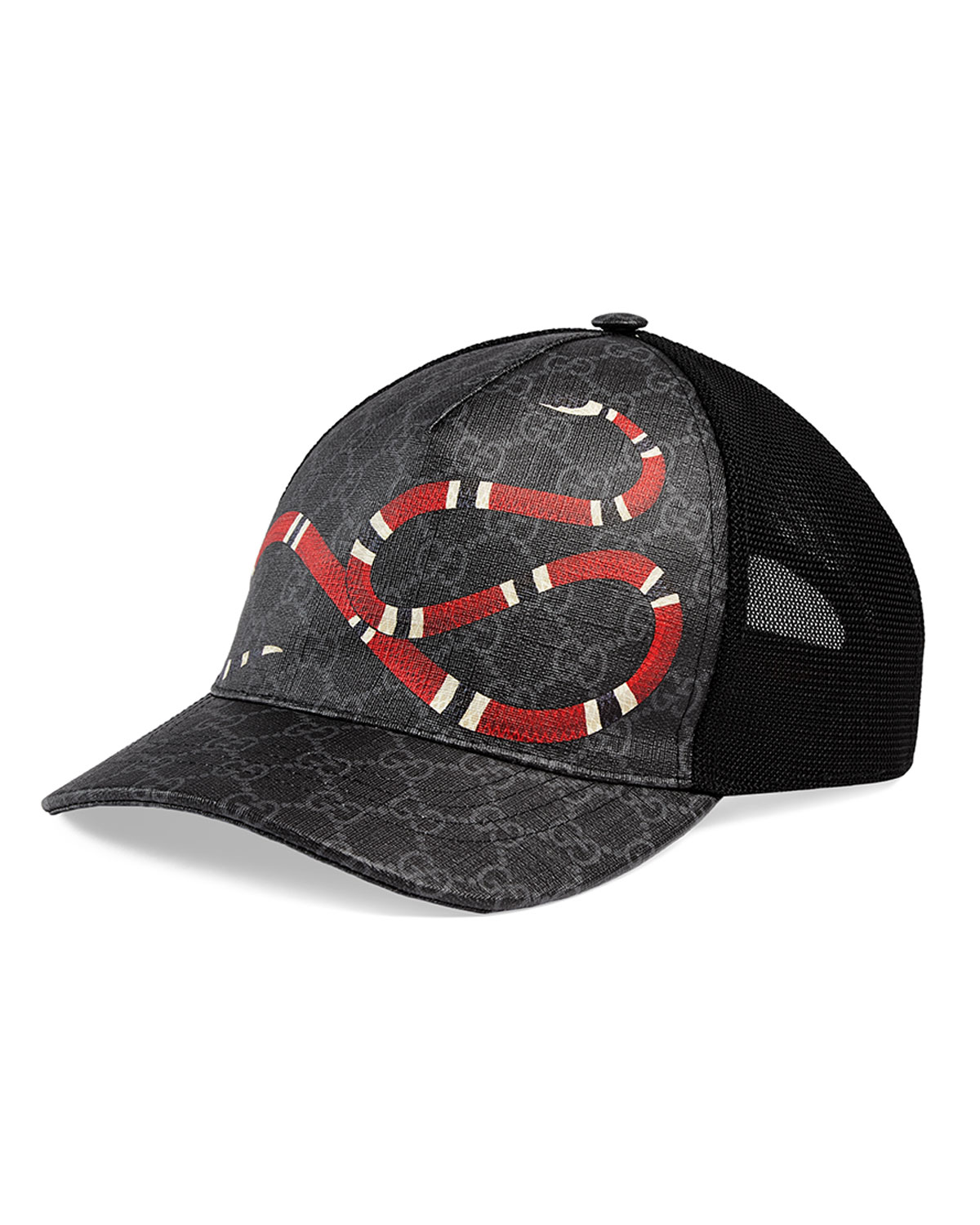 539532317e2c0 Gucci Men s King Snake GG Supreme Baseball Cap