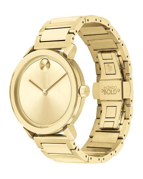 Movado Bold Men's 40mm Bold Evolution Watch, Gold