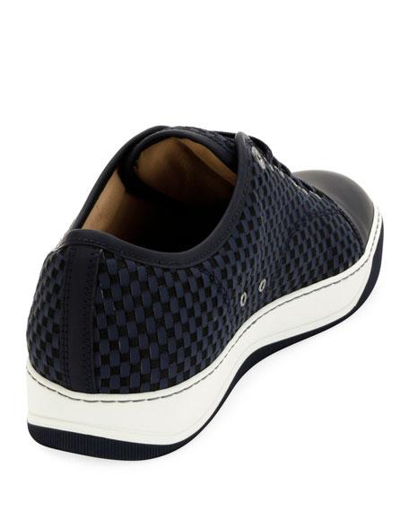 Men's Bi-Material Low-Top Sneakers