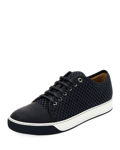 Men's Bi-Material Low-Top Sneakers
