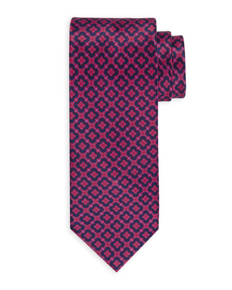 Image 1 of 1: Large Medallion Silk Tie