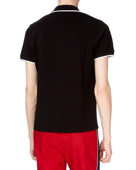 Men's Tipped-Trim Cotton Polo Shirt