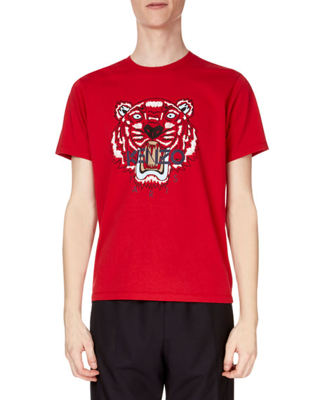 Kenzo Men's Tiger Face Graphic T-Shirt