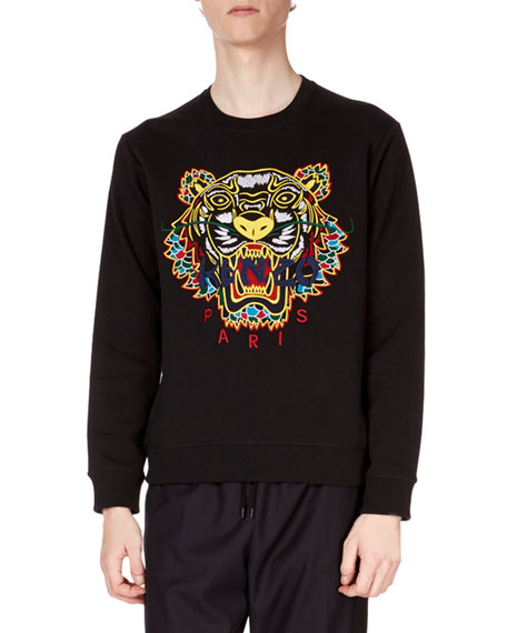 Men's Embroidered Dragon Tiger Sweatshirt