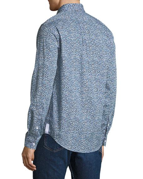 Men's Animal-Print Casual-Fit Sport Shirt