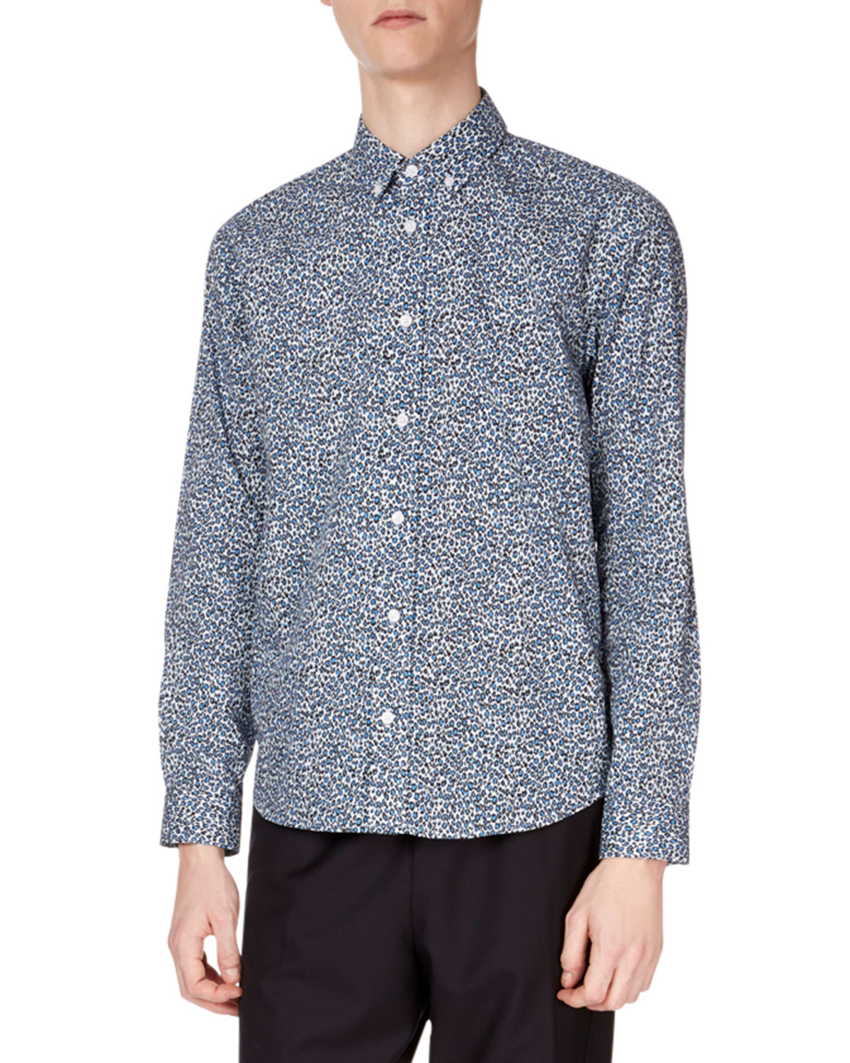 cfc7b4a114b7 Kenzo Men s Animal-Print Casual-Fit Sport Shirt