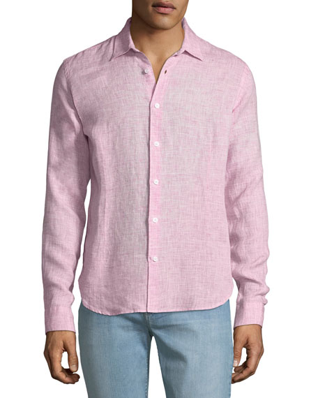 Image 1 of 2: Orlebar Brown Men's Morton Tailored Sport Shirt, Pink