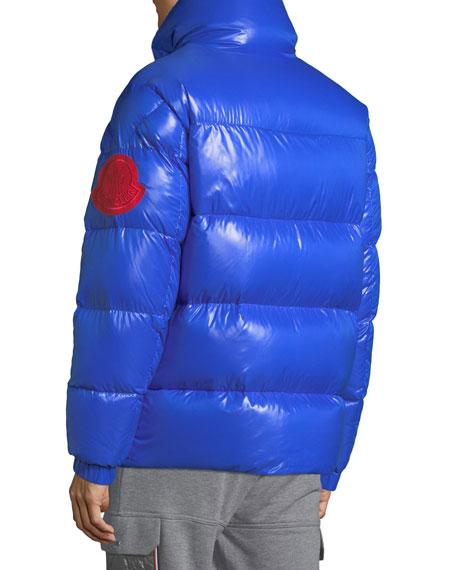 Men's Moncler Genius Dervaux Puffer Coat w/ Tuck-Away Hood
