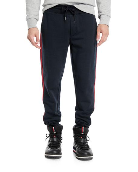 Moncler Men's Drawstring Side-Stripe Sweatpants