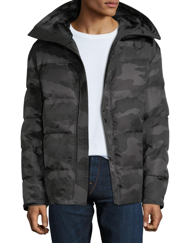 368bffaceb134 Moncler Men's Sebastien Camo Zip-Front Puffer Jacket   Neiman Marcus